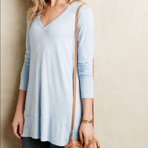 Anthropologie Pure + Good Long Sleeve Blue Tunic